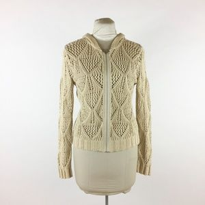 CABI By The Sea Ivory Cardigan Sweater Style #759